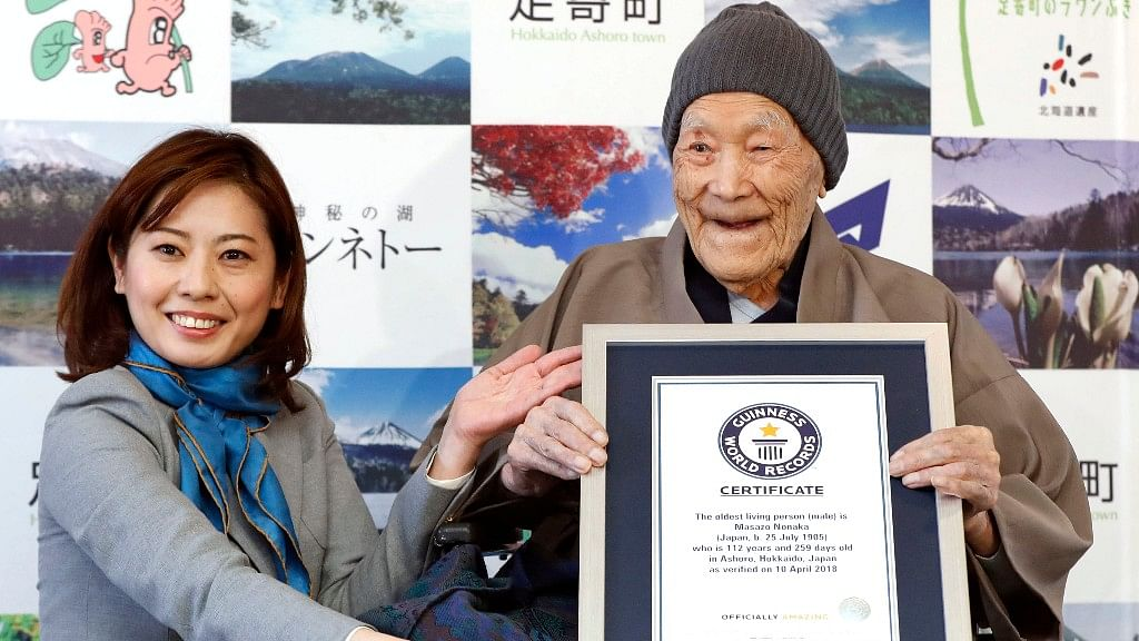 Masazo Nonaka is the world's oldest man.