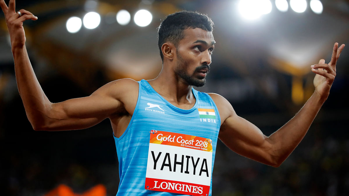 Muhammad Anas broke the national record in the 400m final at 2018 CWG.