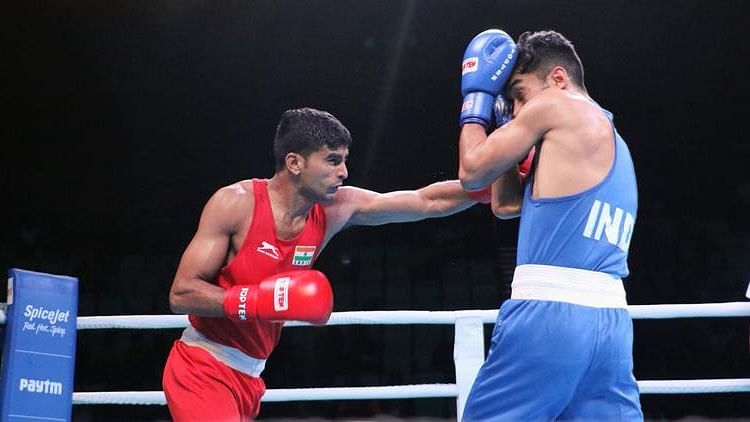 File picture of Manish Kaushik (in red).