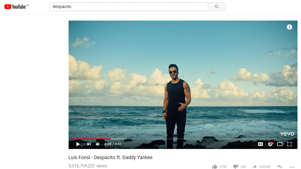 Despacito is back on YouTube, and so are its 5 billion views.