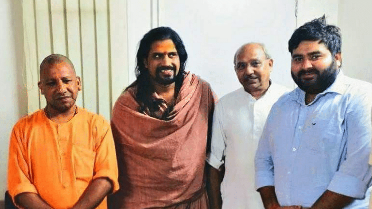 Manish Chandela (extreme right) openly boasted on Twitter that he burnt the Rohingyas camp in South Delhi's Kalindi Kunj area on the adjoining night of 14 and 15 April.