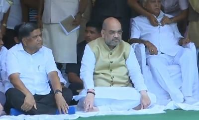 Dharwad: BJP chief Amit Shah observes a day-long fast to protest the disruption of Parliament