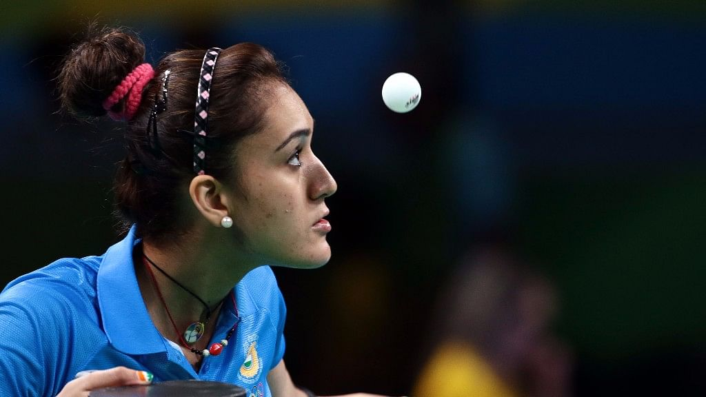 Manika Batra at the Commonwealth Games in Gold Coast.