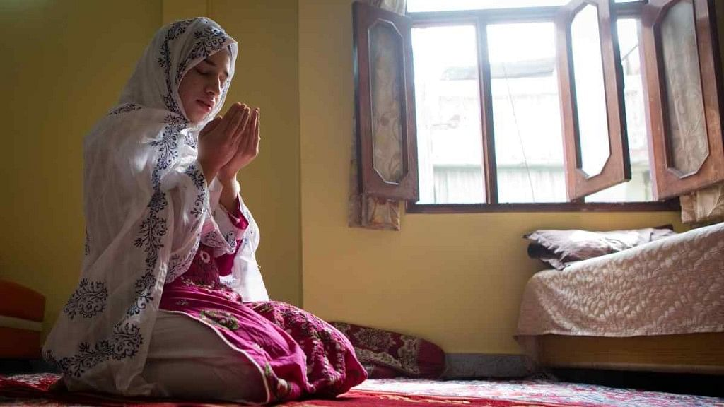 A Muslim woman in Old Delhi offers prayers. Image used for representational purposes.