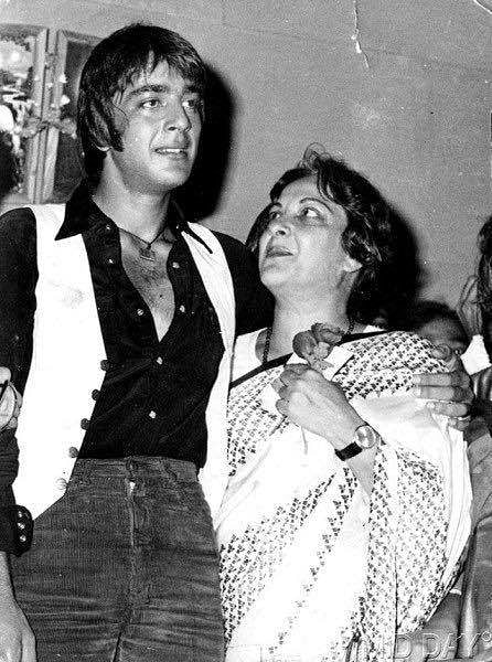 Sanjay with his mother.