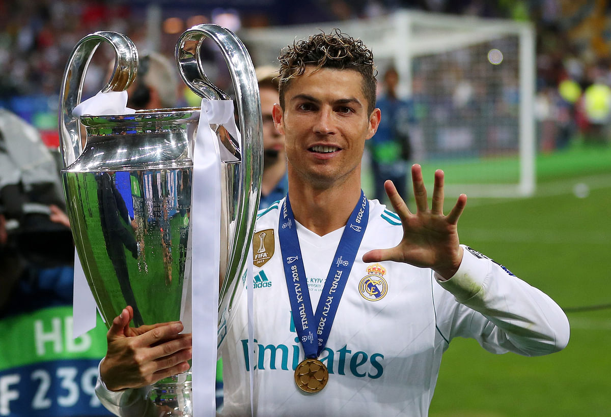 Cristiano Ronaldo now has five Champions League winners medals, one with Manchester United and four with Real Madrid.