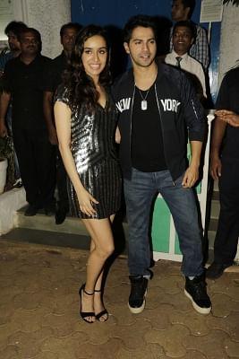 Mumbai: Actors Varun Dhawan and Shraddha Kapoor during the success party of film `ABCD 2` in Mumbai, on July 10, 2015. (Photo: IANS)