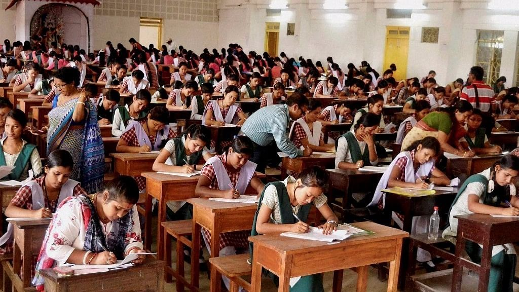Students appear for class 12th Board exams in a school. Image used for representational purposes.