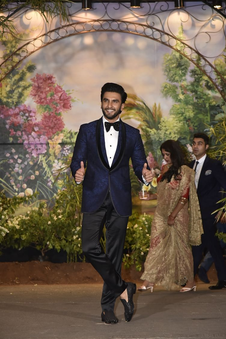 Ranveer Singh is all set for the party.