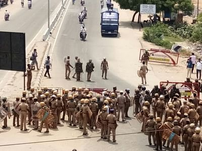 Tuticorin: Police personnel deployed during a demonstration to press for the closure of  Vedanta