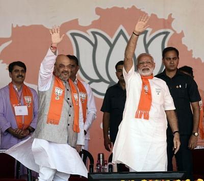 Prime Minister Narendra Modi and BJP chief Amit Shah. (Photo: IANS)