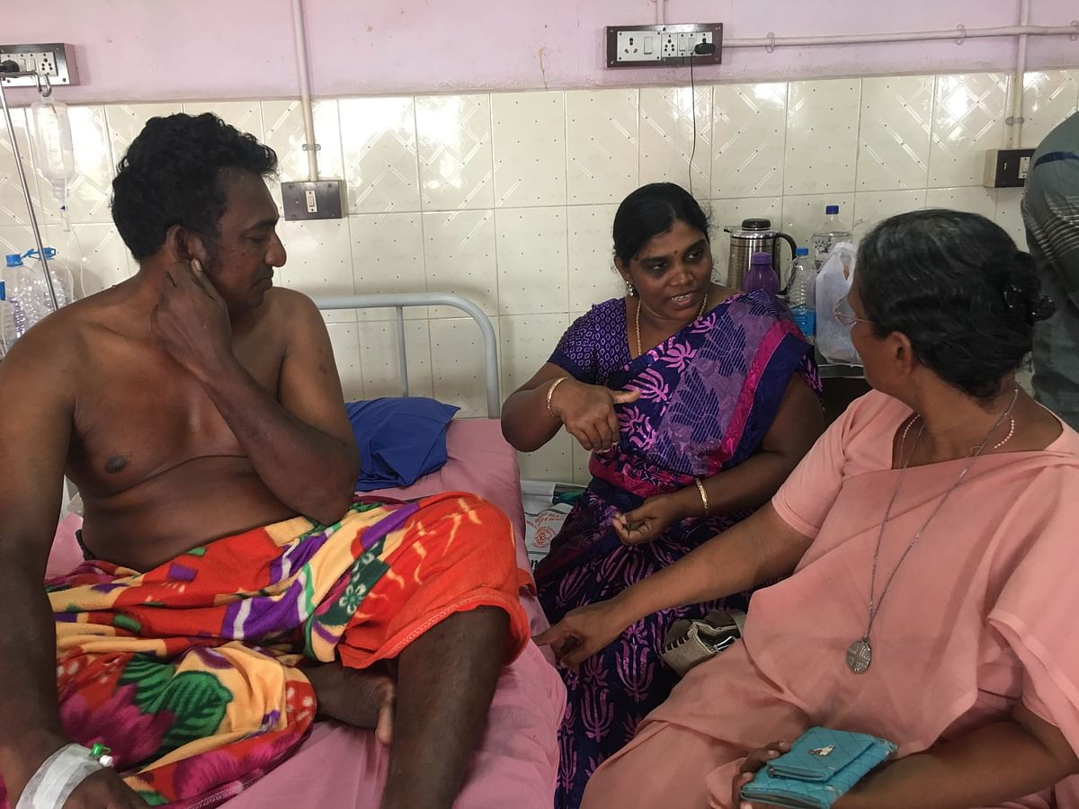 There was no talk of religion or caste in that hospital ward. Everyone was helping one another.