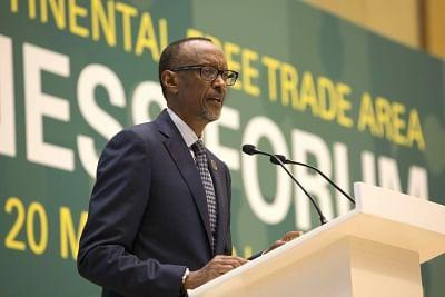 Paul Kagame. (File Photo: Xinhua/Gabriel Dusabe/IANS)