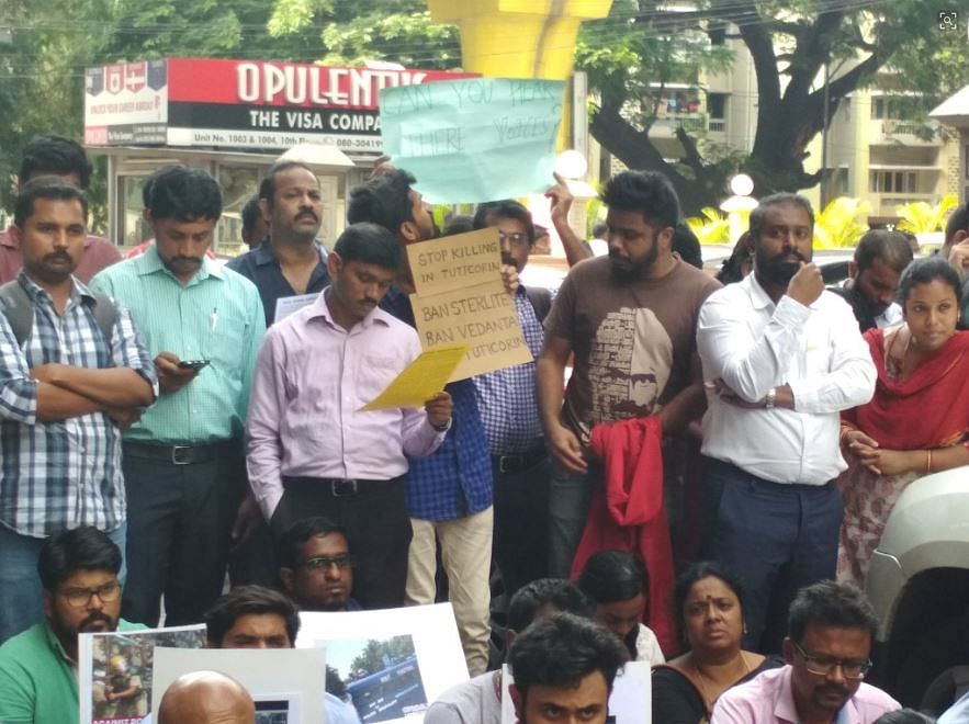 File photo from the Anti-Sterlite protests.