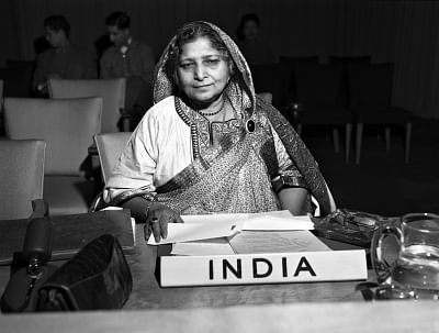 Begum Hamid Ali represented India on the United Nations Commission on the Status of Women. (Photo: UN/IANS)