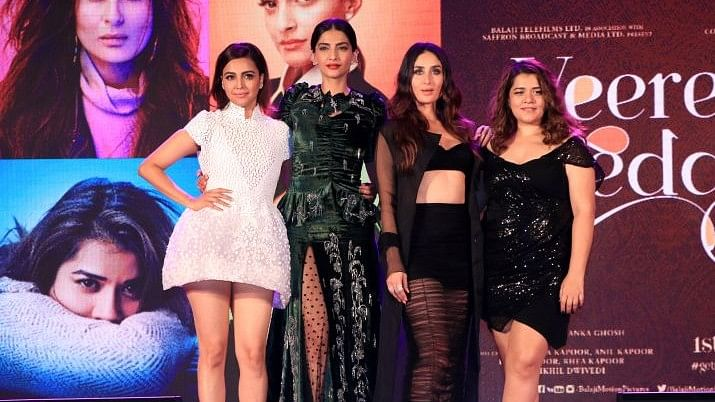 Swara Bhasker, Sonam Kapoor, Shikha Talsania and Kareena Kapoor Khan at the music launch of <i>Veere Di Wedding</i>.