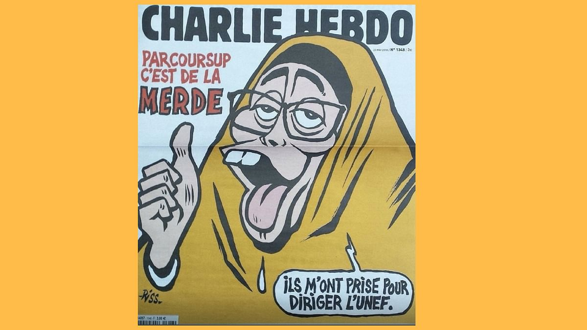 Charlie Hebdo put out a visibly anti-Muslim cartoon, depicting the 19-year-old as a monkey.