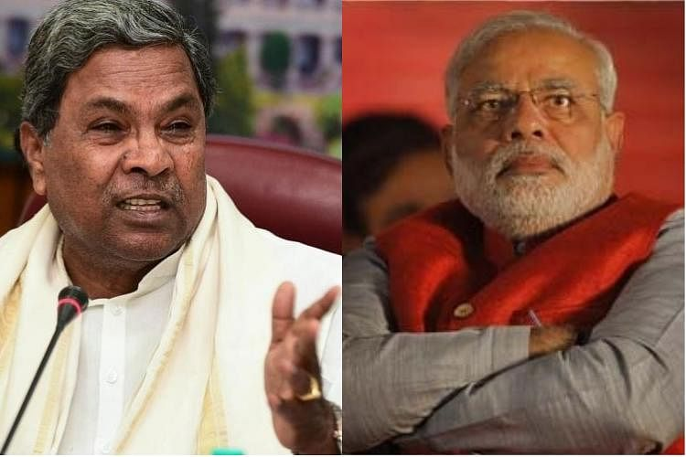 Karnataka CM Siddaramaiah and PM Narendra Modi.