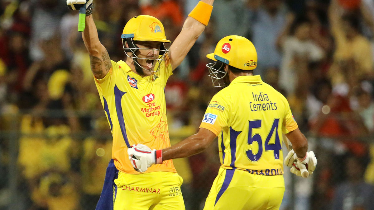 IPL 2018: Du Plessis Takes CSK to 7th Final From Brink of Defeat