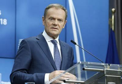 European Council President Donald Tusk. (Xinhua/Ye Pingfan/IANS)
