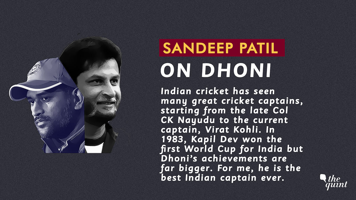 Dhoni is Like the Classic Hindi Film Mughal-E-Azam: Sandeep Patil
