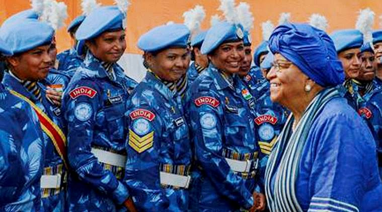 Contingent of 125 Indian women peacekeepers in Liberia awarded.