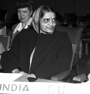 Hansa Mehta, the delegate of India to the UN Commission on Human Rights, ensured that the United Nations Universal Declaration of Human Rights included women in its text upholding their equality. (Photo: UN/IANS)