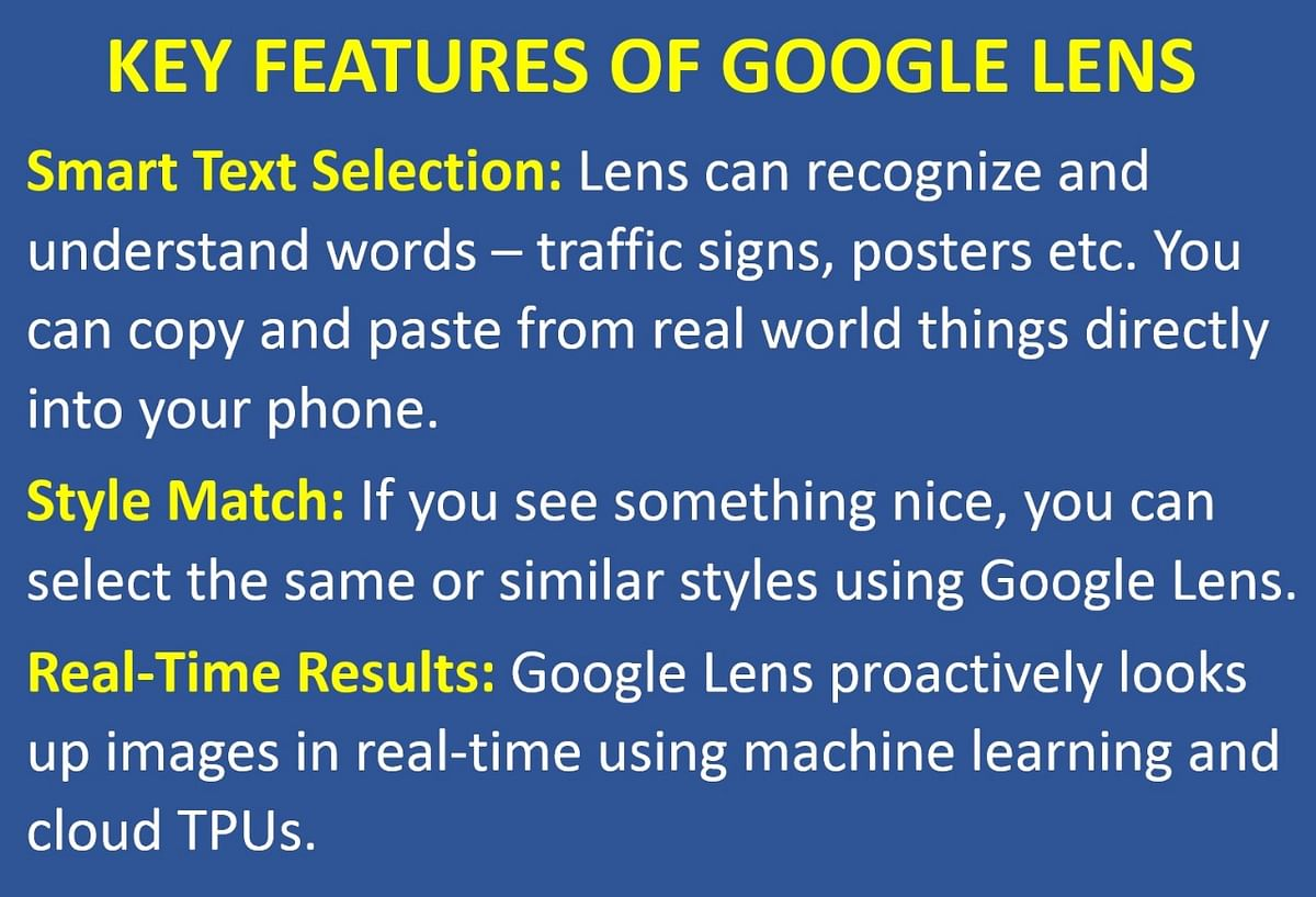 New features coming to Google Lens for cameras.