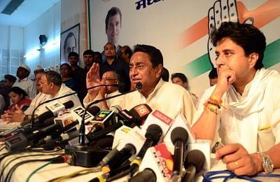 Congress leaders Kamal Nath and Jyotiraditya Scindia. (Photo: IANS)