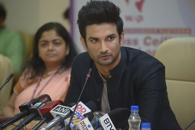 New Delhi: Actor Sushant Singh Rajput addresses during a programme organised to promote the Women Entreprenuership Platform (WEP) of NITI Aayog in New Delhi on May 25, 2018. (Photo: IANS)