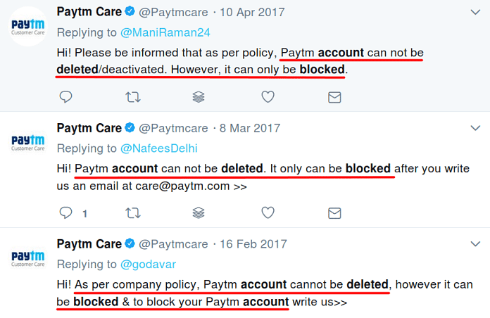 Paytm Support Tries to Prove Customer's Concern False on Twitter