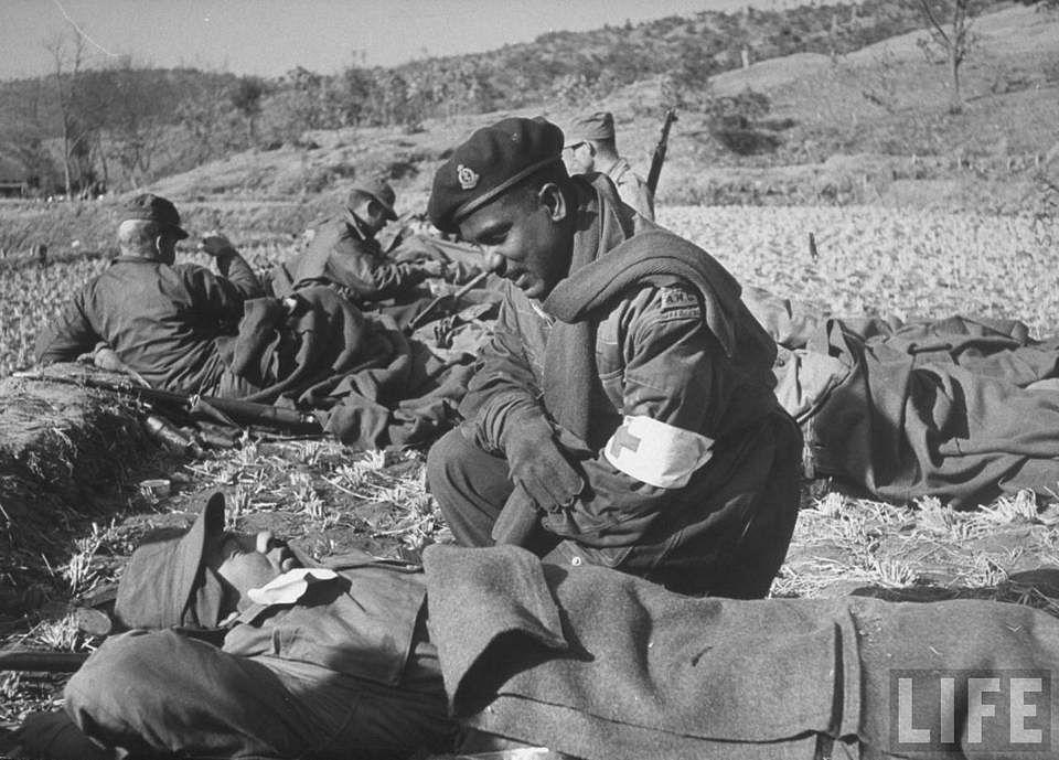 Indian troop deployed during the Korean war.