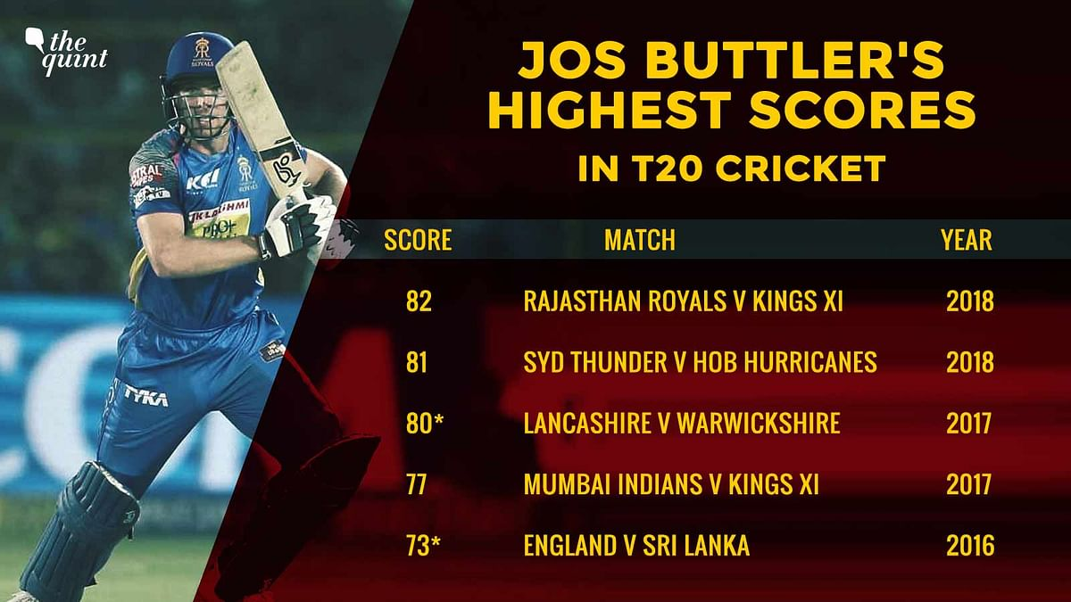 Stats: Jos Buttler's 3rd Straight Fifty Helps Royals Stay in Hunt