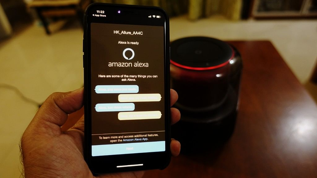 Alexa is Amazon's voice assistant which is available on phone and smart speakers.