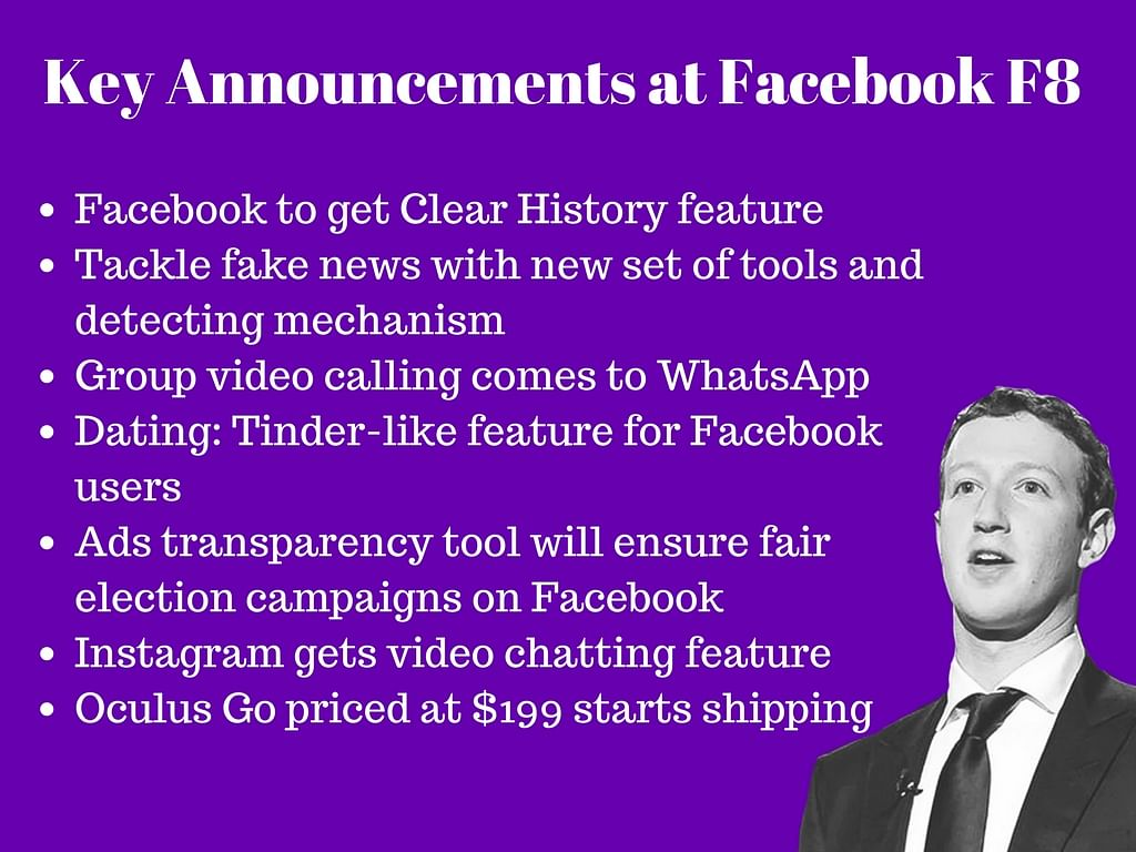Facebook F8 Keynote: Instagram Gets Video Chat, Dating Comes to FB