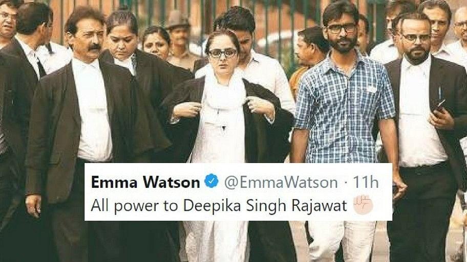 Emma Watson lauded Kathua rape and murder victim's lawyer on Twitter.