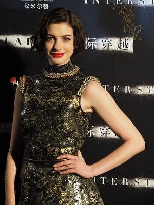Actress Anne Hathaway. (Xinhua/Ren Longshe/IANS)
