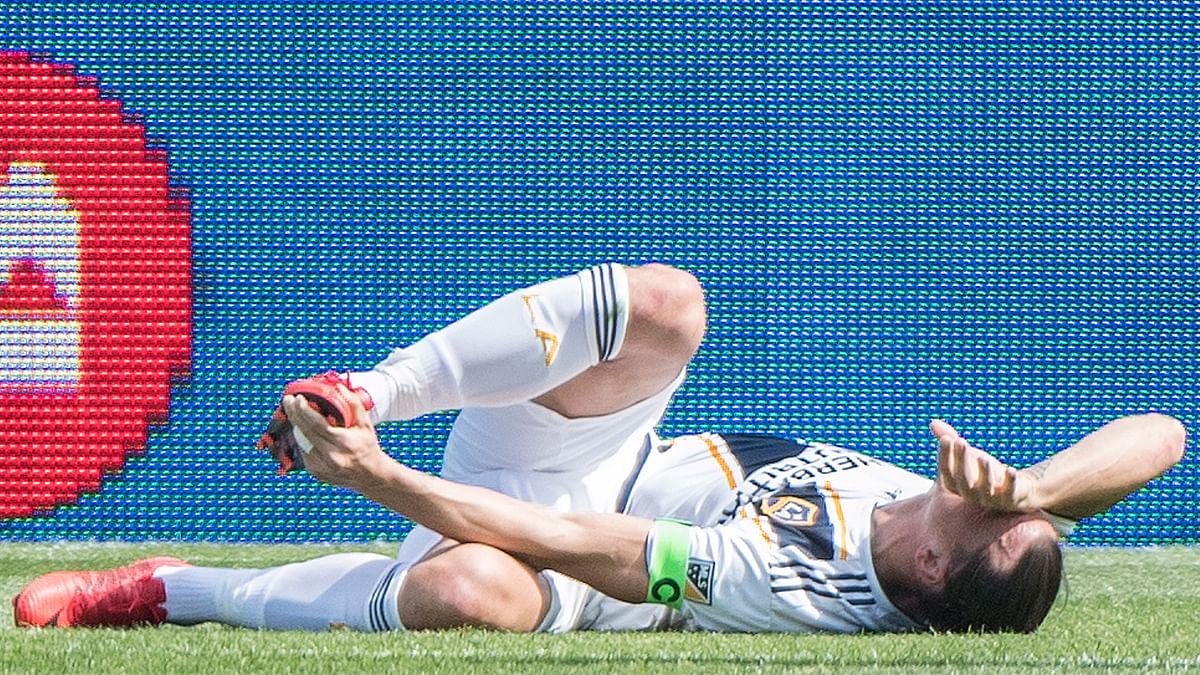 Zlatan Ibrahimovic was sent off during Los Angeles Galaxy's match against Montreal Impact.