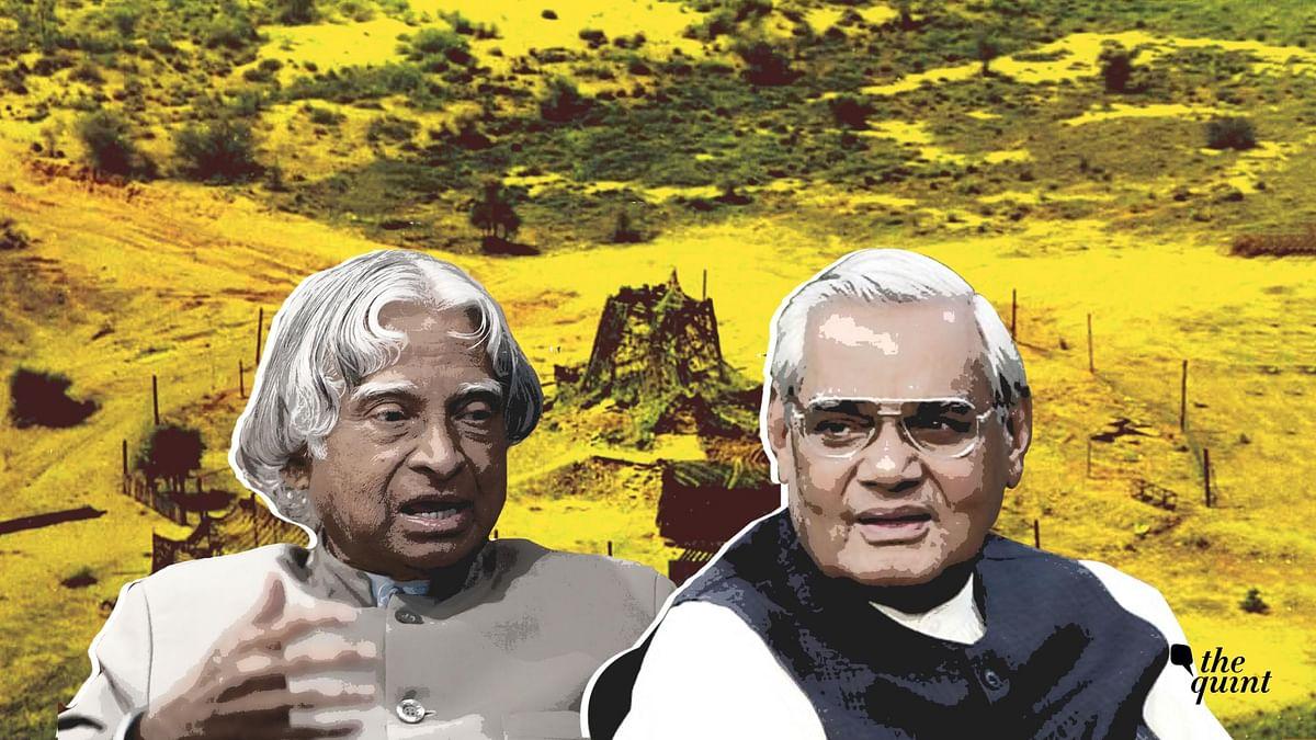Dr APJ Abdul Kalam (L) and Atal Bihari Vajpayee (R), against a backdrop of Pokhran. Image used for representational purposes.