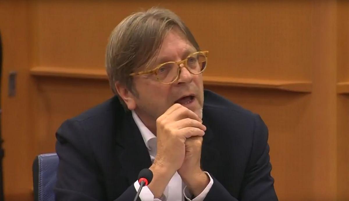 Guy Verhofstadt, Belgian member of European Parliament