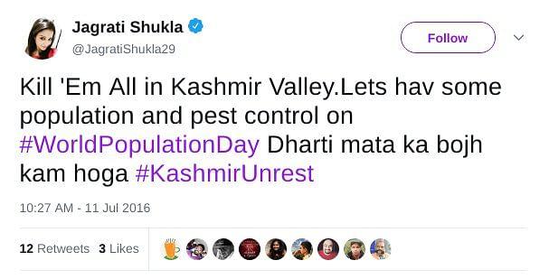 Jagrati Shukla on World Population Day.