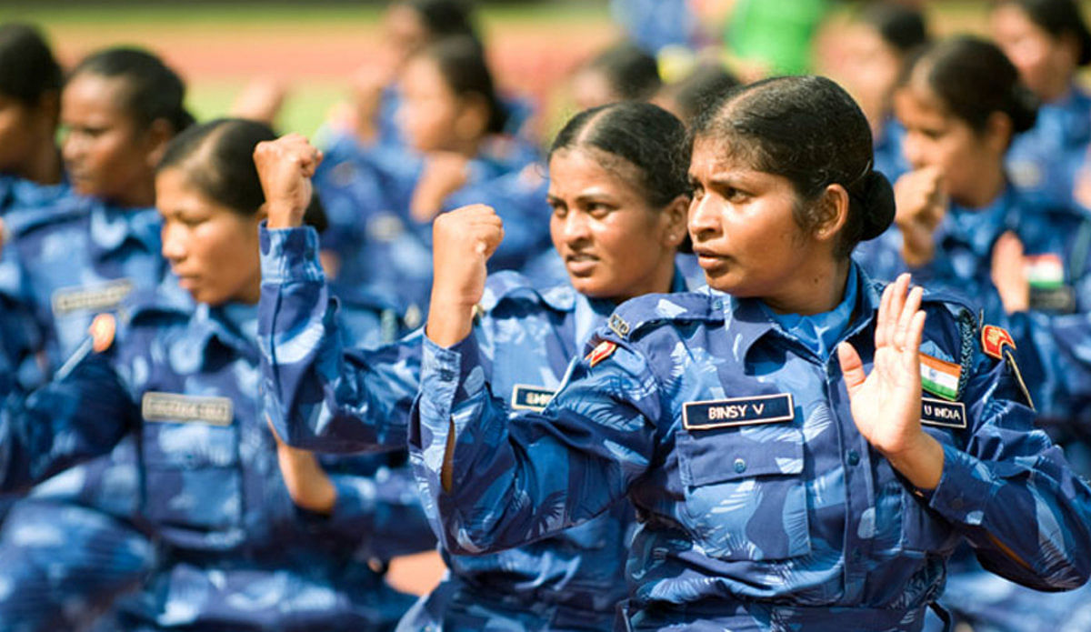 The Indian women contingent in Liberia.