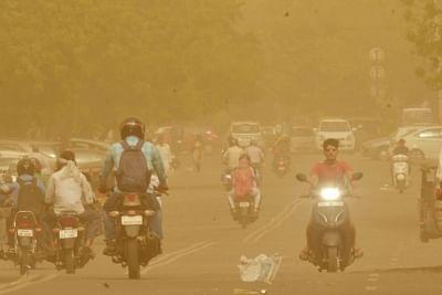 Jaipur: Dust storm hits Jaipur on May 8, 2018. (Photo: Ravi Shankar Vyas/IANS)