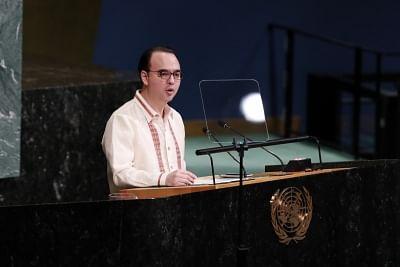 Philippine Foreign Secretary Alan Peter Cayetano. (Xinhua/Li Muzi/IANS)