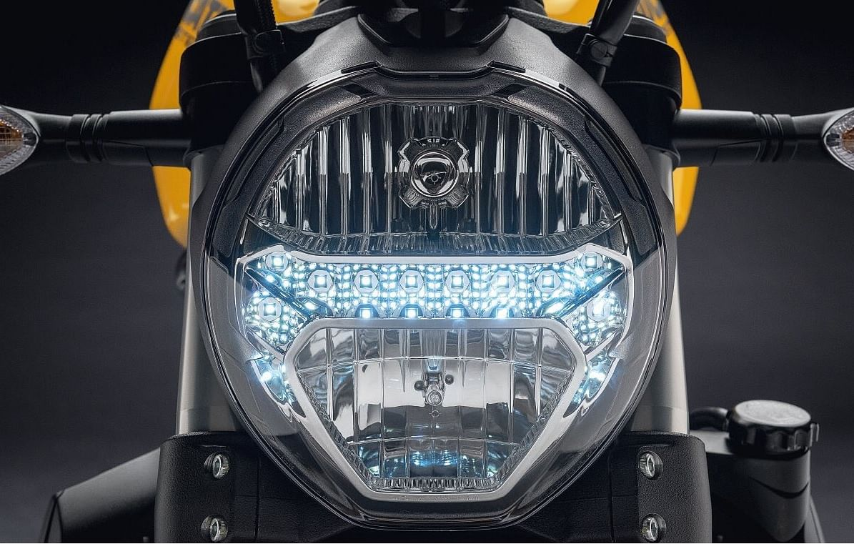 The LED running lamps on the Ducati Monster 821.