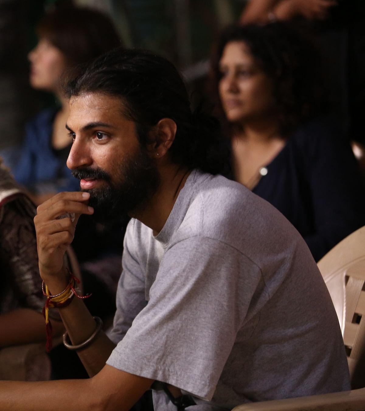 Director Nag Ashwin on the sets of <i>Mahanati</i>.