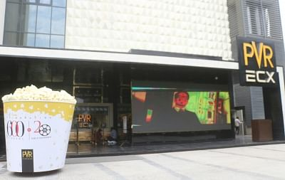 New Delhi: The redeveloped Chanakya complex, now a mall with multiplex, food court and shops will open for public in New Delhi on Sept. 22, 2017. The PVR multiplex will start screening movies from Friday and the mall will open in phased manner. The complex was shut for 10 years for redevelopment. (Photo: Bidesh Manna/IANS)