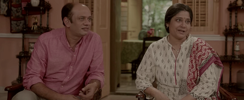 A still from the trailer. Renuka Shahane and Madhuri Dixit share screen space to give us agreeable throwback vibes. (Photo Courtesy: YouTube)