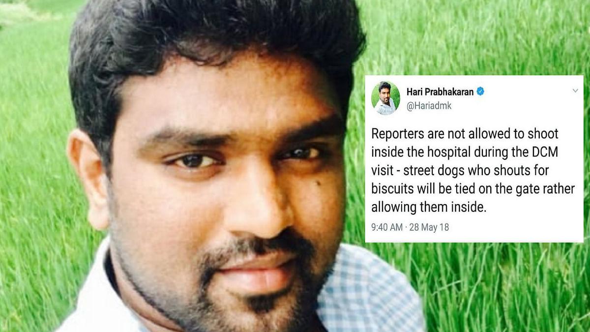 Tweet of C Hari Prabhakaran, IT wing member of AIADMK.