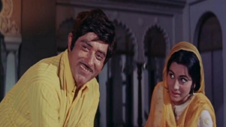 Geeta Kapoor with Raaj Kumar in <i>Pakeezah.</i>&nbsp;